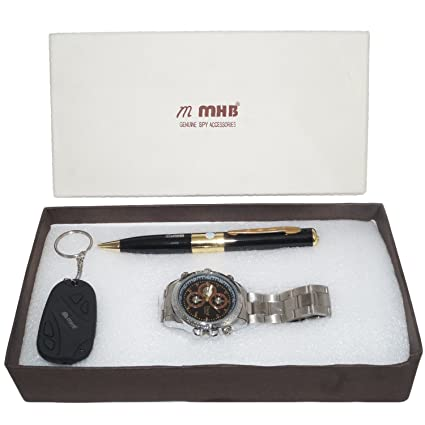 M MHB Spy Combo Offer 3 In 1 16GB Wrist Watch Camera + 32 GB Supportable