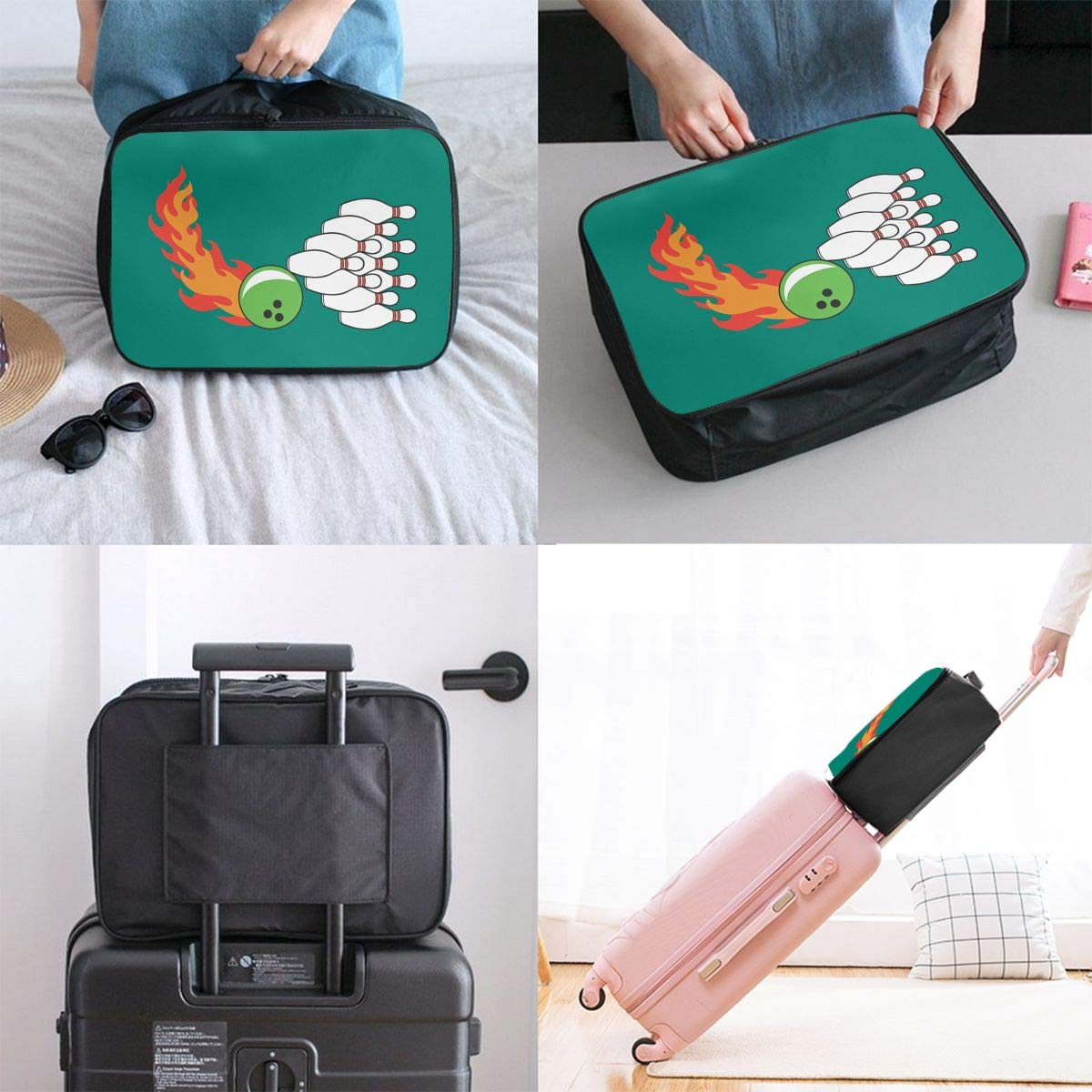 Travel Luggage Duffle Bag Lightweight Portable Handbag Bowling Large Capacity Waterproof Foldable Storage Tote