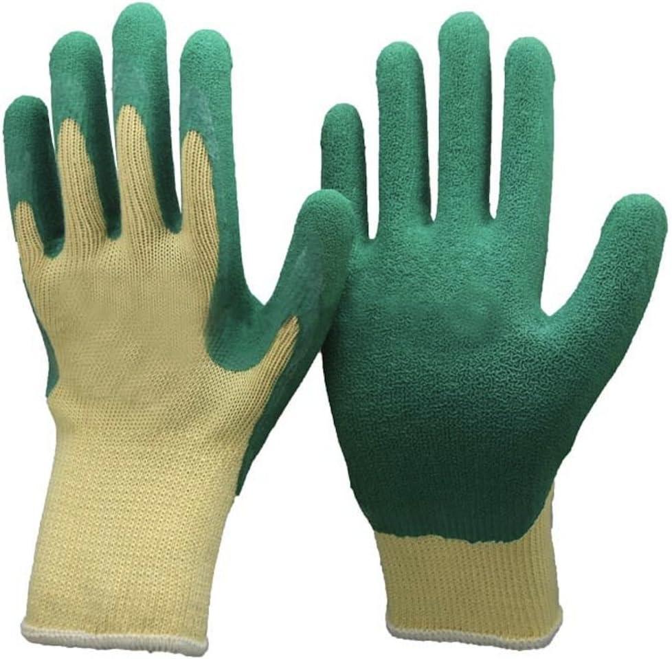 /Polycoton avec rev/êtement latex DIY et de travail Small EU 8 verre Easy Off Gloves Unisexe Vert /& Gants de jardinage jaunes/ id/éal pour les jardiniers manipulation