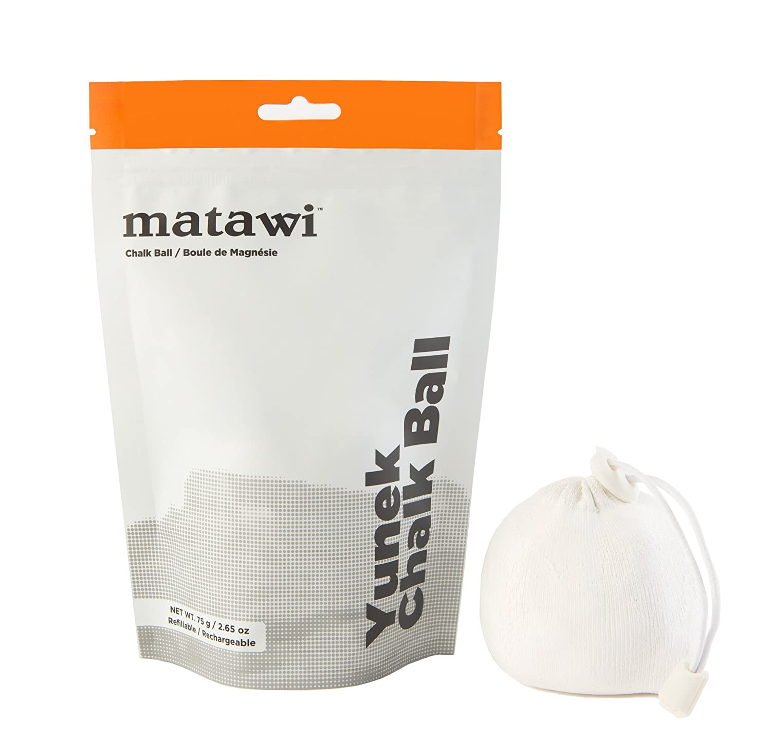 Amazon.com : Matawi Yunek Refillable Chalk Ball with 75 Gram (2.65 oz) Enhanced Grip - Pure Gym Chalk Bag for Rock Climbing, Weight Lifting, Crossfit, ...