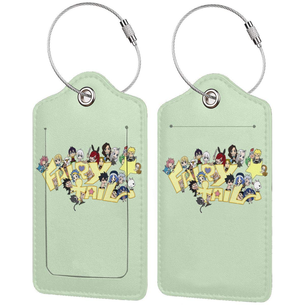Fairy Tail Fans Leather Luggage Tag Travel ID Label For Baggage Suitcase