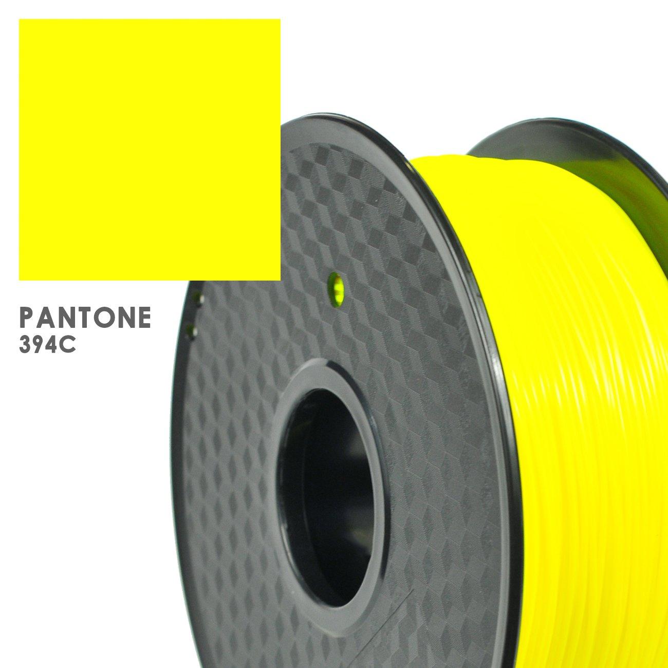 Pantone Code:394C Dimensional Accuracy +//- 0.03 mm 1.75 mm Florescent Yellow PRILINE PLA-1KG 1.75 3D Printer Filament 1kg Spool