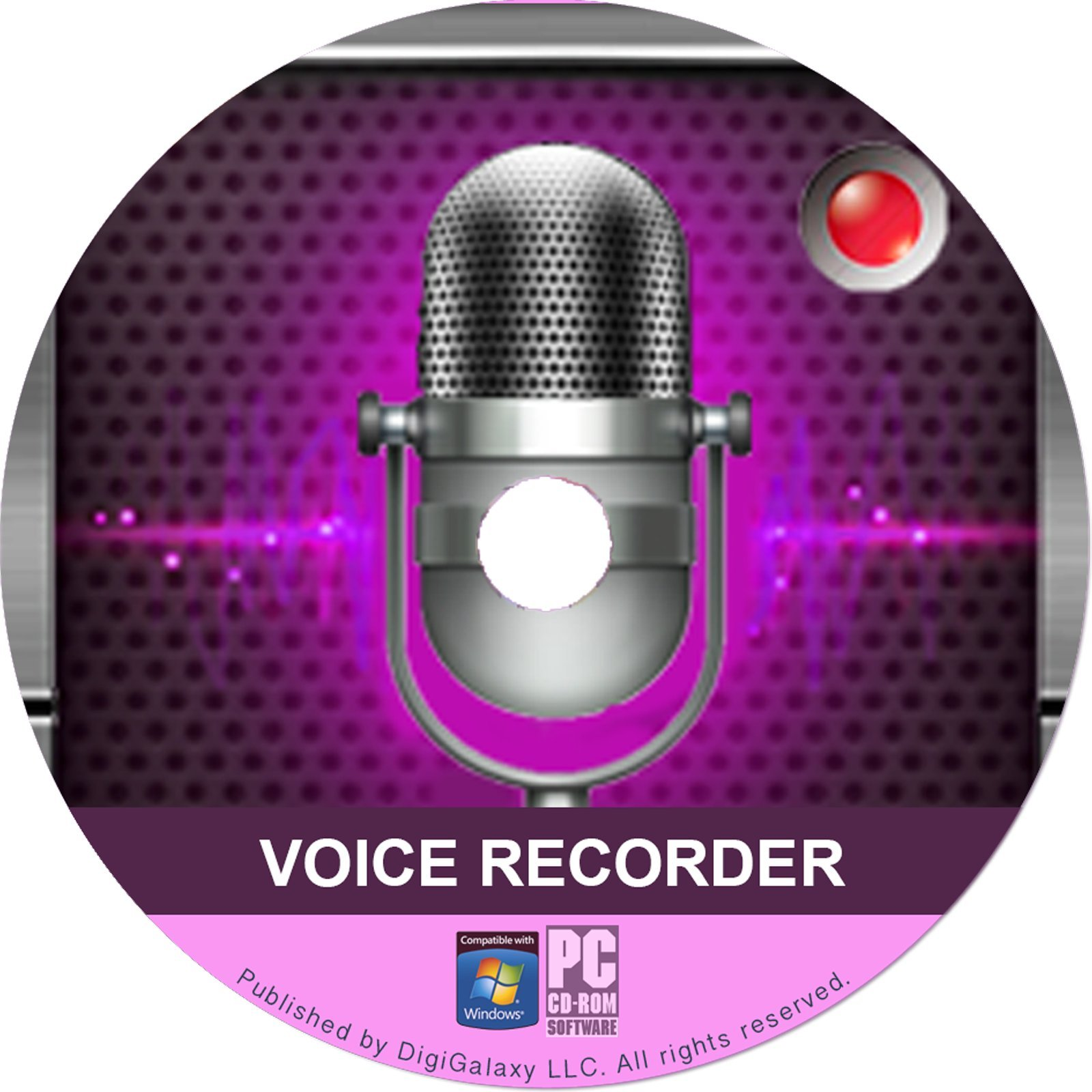 Voice Recording Softwaer by DigiGalaxy LLC