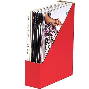 R-KIVE® E-Flute - Archivador/revistero de papel corrugado, color azul (5 unidades): Amazon.es: Oficina y papelería