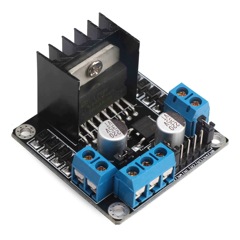L298n H Bridge Motor Controller Drok Driver Board Dc Diagram Along With Circuit Applications Dual Robot Stepper Regulator And Drives Module For Arduino Smart Car Power