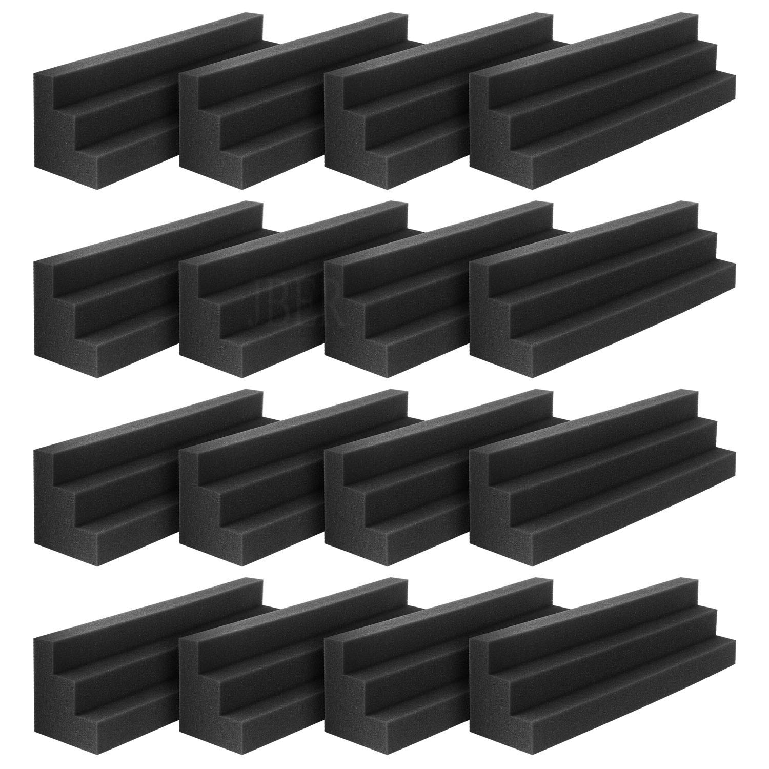 JBER Column Acoustic Wedge Studio Foam Corner Block Finish Corner Wall in Studios or Home Theater (16 Pack)