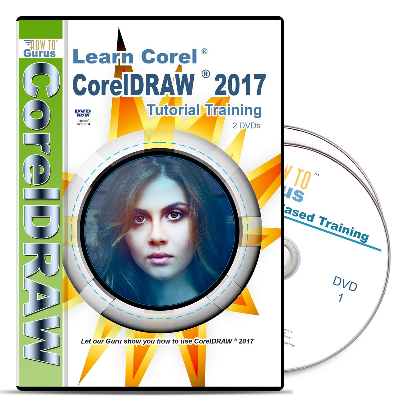 Corel CorelDRAW 2017 Tutorial Training on disc. 2 DVDs, over 11 hours in 182 videos