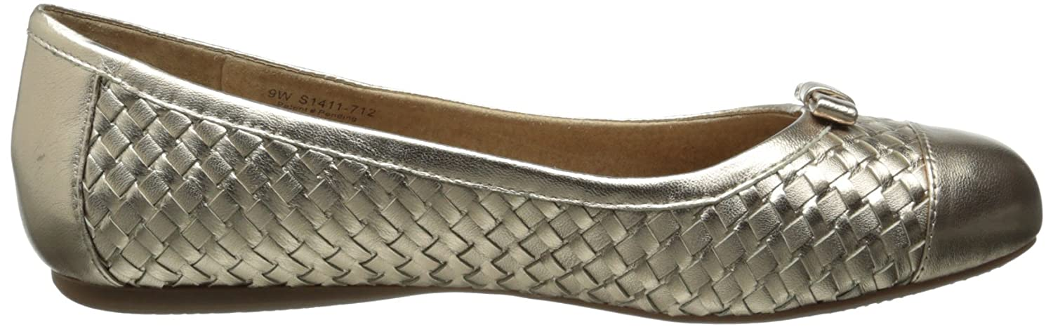 SoftWalk Women's Naperville Ballet Flat B00DR13X1M 7 W US|Gold Wash