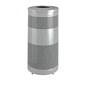 Rubbermaid Commercial Classic Trash Can, 25 Gallon, Silver Metallic, FGS3ETSMPLBK