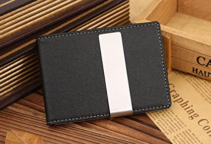 Billeteras de Hombres Luxury men Wallets Money Clip Carteira Vintage Style Leather Money Holder Male Clamp For Money Clip (Black) (Green) at Amazon Mens ...