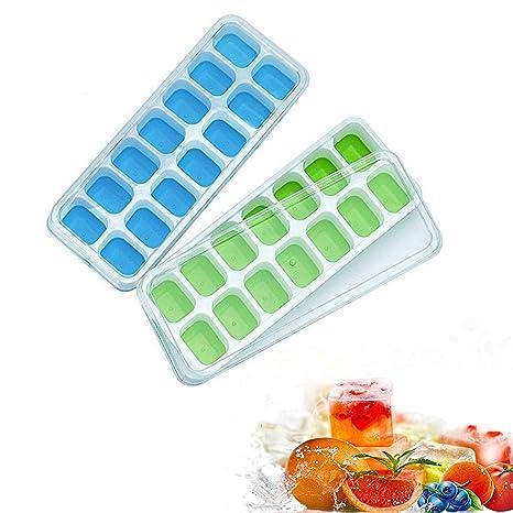 Moldes para cubitos de hielo, aranticy silicona para hacer cubitos de hielo, fácil liberación