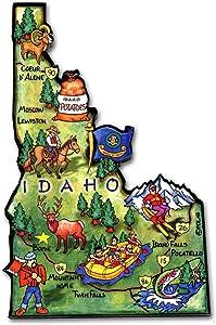 Idaho State Decowood Jumbo Wood Fridge Magnet 4.25