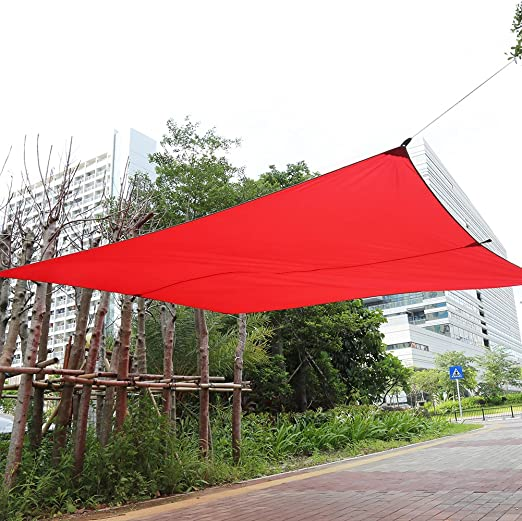 Toldo, rectangular al aire libre jardín Parasol Toldo Toldo Impermeable Patio toldo con larga cuerda de nailon y bolsa de almacenamiento: Amazon.es: Jardín
