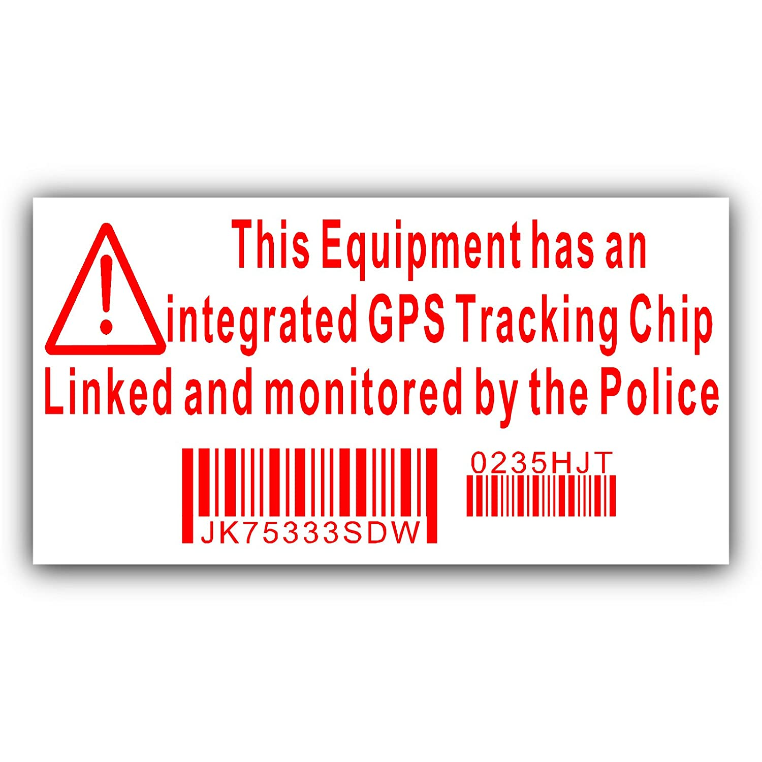BLACK onto CLEAR-Tracking System Device Unit Police Monitored Vinyl Sign Platinum Place 6 x Camper Van Dummy//Fake GPS Campervan Security Alarm Warning Window Stickers