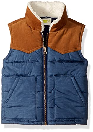 ee0d92121d65 Amazon.com  Crazy 8 Boys  Toddler Two-Tone Puffer Vest  Clothing