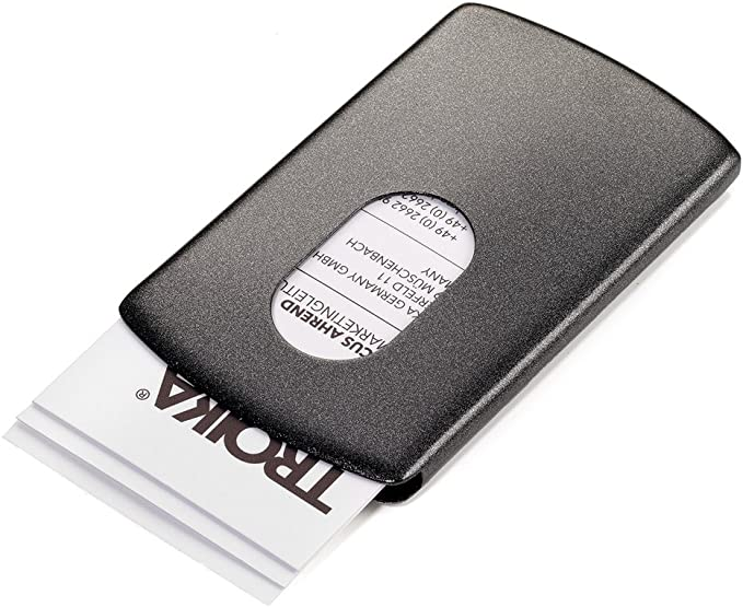 Troika - Caja para Tarjetas de Visita Unisex, Negro (Negro ...
