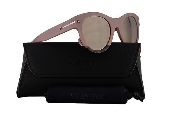 75be2c7ddc57f Amazon.com: Valentino VA 4020 Sunglasses Pink Havana Yellow w/Light ...