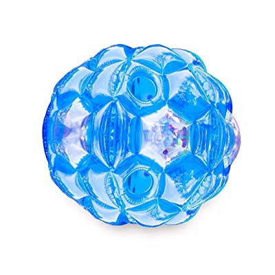 Blue Bright Lights BBOP Buddy Bumper Ball Confetti Filled Motion Activated LEDs Inflatable Body Bubble Suit Heavy Duty PVC Vinyl 36'' Dia: Toys & Games