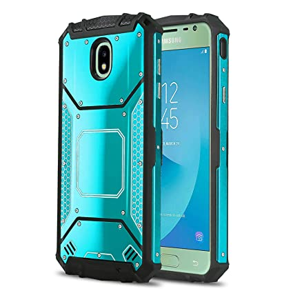 Phone Case for [Samsung Galaxy J3 Orbit (S367VL)], [Alloy Series][Blue]  Aluminium [Metal Plate] Military Grade Cover for Galaxy J3 Orbit (Tracfone,