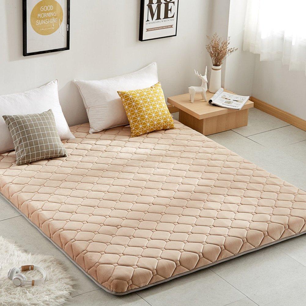 LJ&XJ 畳を暖める,厚いスポンジ ベッド マットレスの快適な環境保護ソフト ハード適度な畳床します。-イエロー 120*198cm B07CKQL5GN イエロー 120*198cm