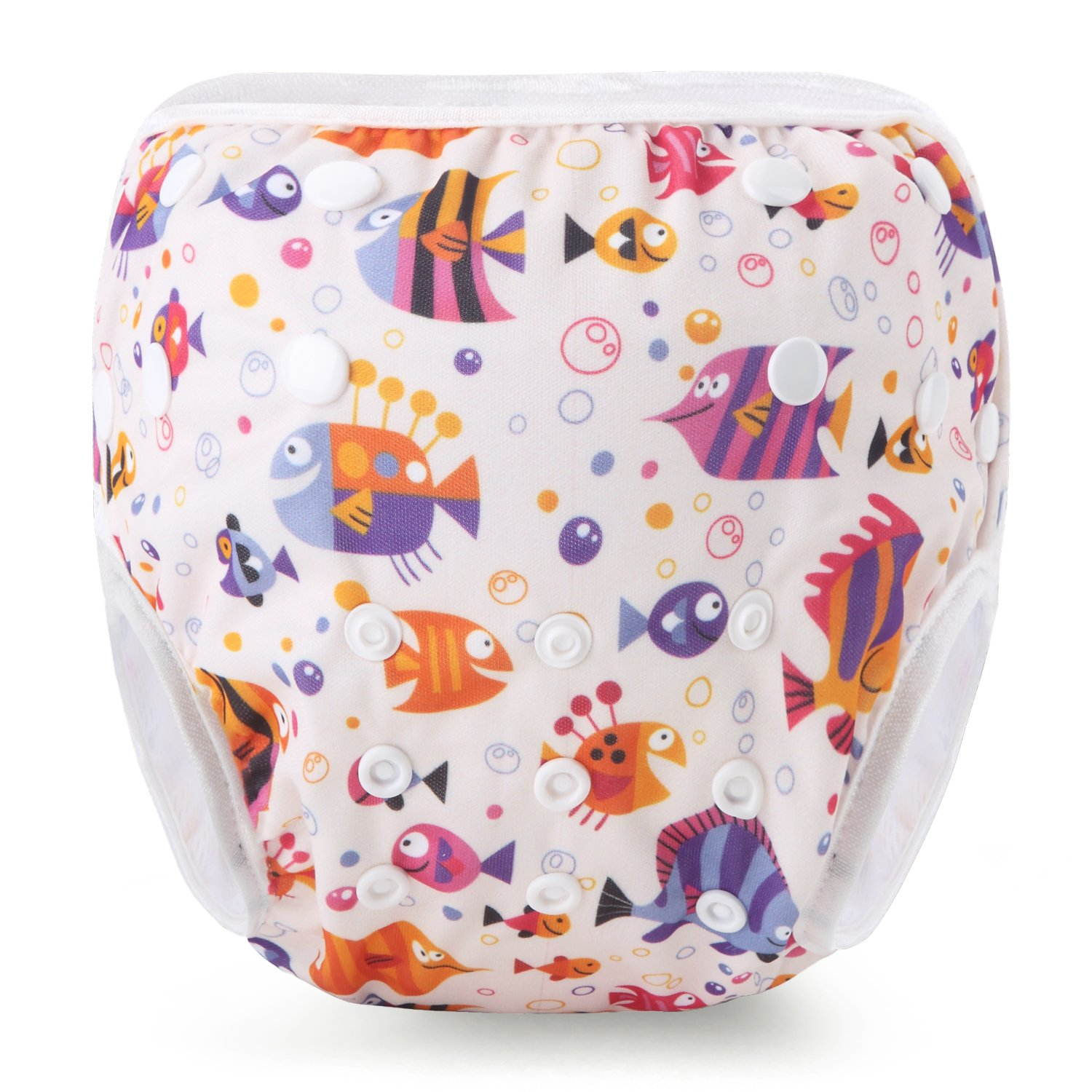 Martofbaby Baby Swimming Nappy Diapers Waterproof Cover Adjustable Snaps 0-3 Years