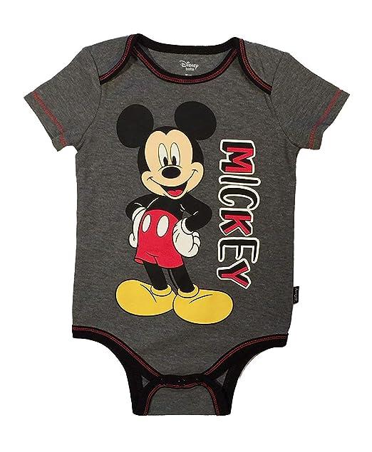 c5859b96e8e6 Amazon.com  Disney Baby Mickey Mouse Baby Boys Bodysuit  Clothing