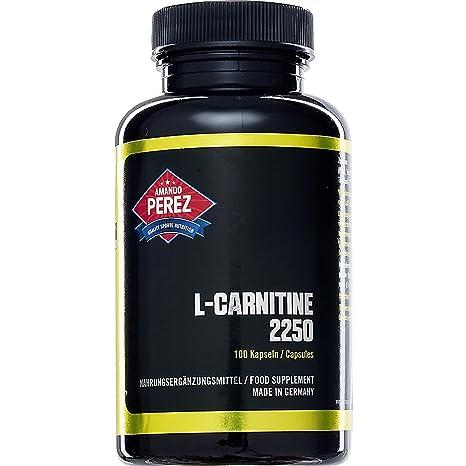 L-carnitina - 2250 mg por dosis - dosis altas - Fase de definición -