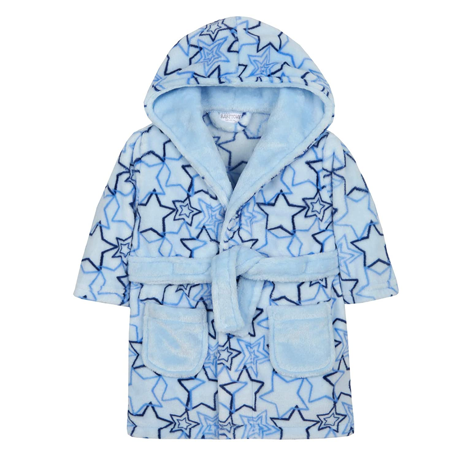 Lora Dora Baby Boys Blue Star Dressing Gown Shoe Directory LB101547