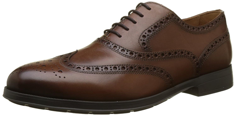TALLA 39 EU. Geox U Hilstone 2fit B, Zapatos de Cordones Brogue para Hombre