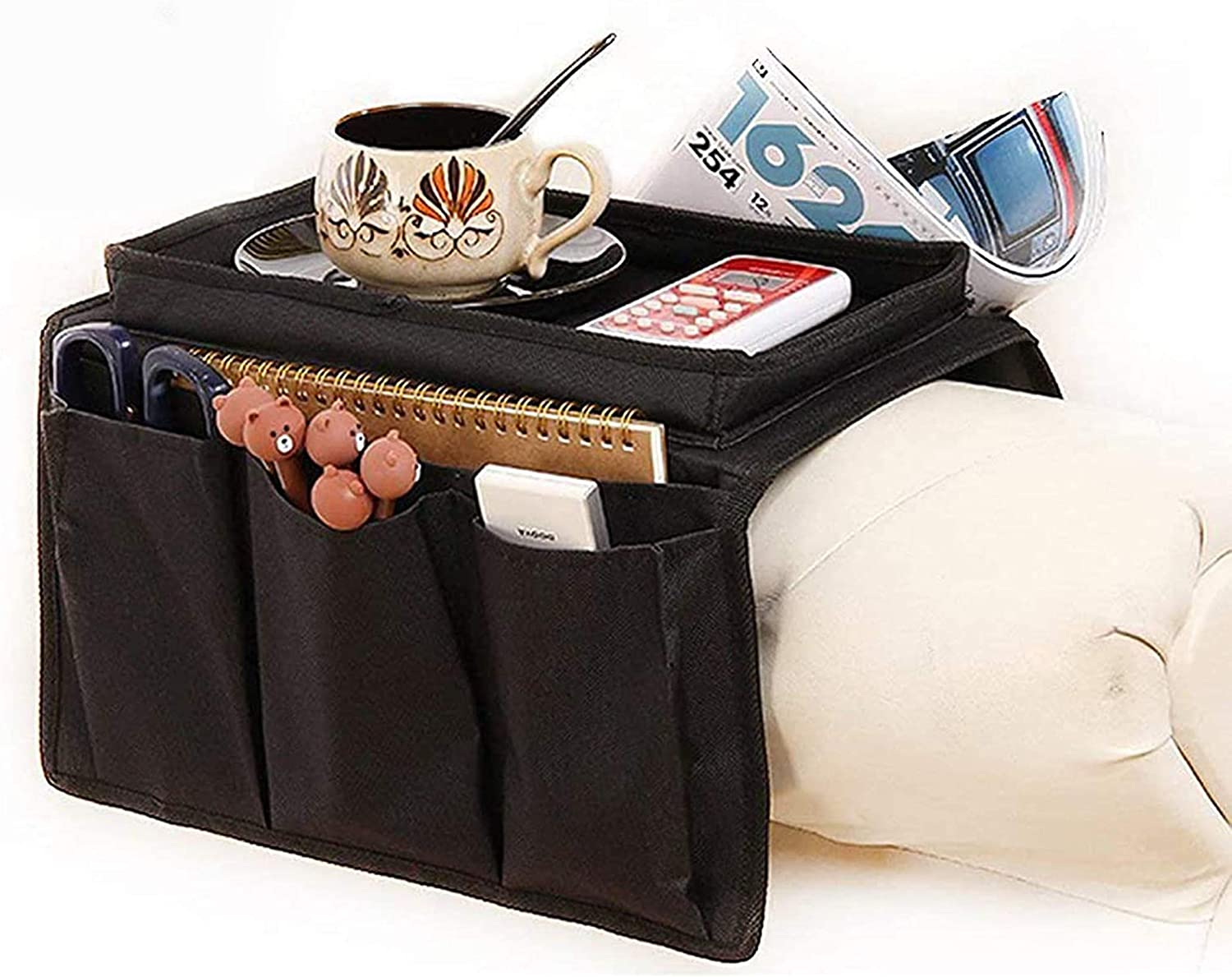 Sofa Armrest Organizer Couch Chair Arm Storage Tv Control Remote Holder Pocket
