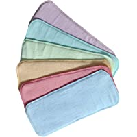 Ineffable® Wet-Free Microfiber Inserts Washable Microfiber Baby Cloth Diaper Inserts 3 Layers Each Insert for Diapers Pocket Mat Nappy Changing Liners (Set of 6 Multi)