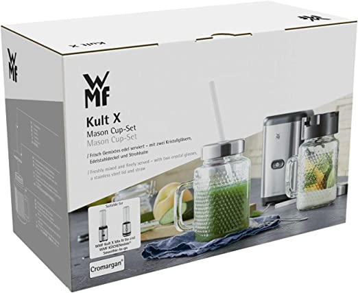 WMF 0416780041 Kult X Set de accesorios Mason Cup, acero ...