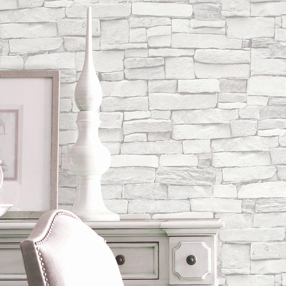 Blooming Wall 5701 3d Faux Brick Stone Wall Mural Wallpaper For Bathroom  Kitchen Livingroom Bedroom,