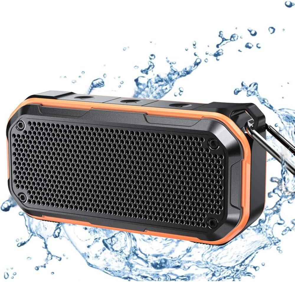 Waterproof Bluetooth Speaker, IPX10 Waterproof Speaker Bluetooth Wireless  Outdoor Portable Speakers TWS Stereo Rich Bass 10H Playtime with Microphone