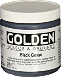 Golden Acrylic Black Gesso Jar, 8 oz