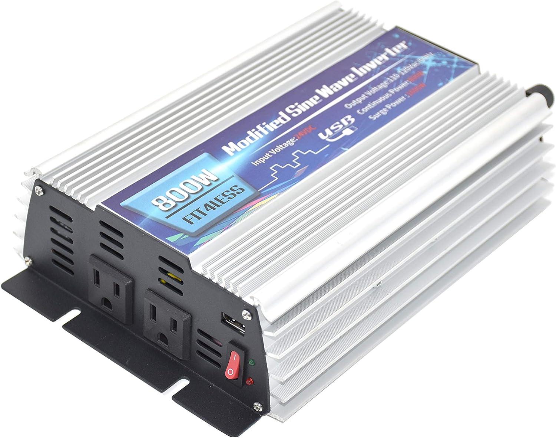 Output AC110V 60Hz Power Inverter 800W with Dual sockets Output and USB5V 2000mA Input DC12V or 24V 24V