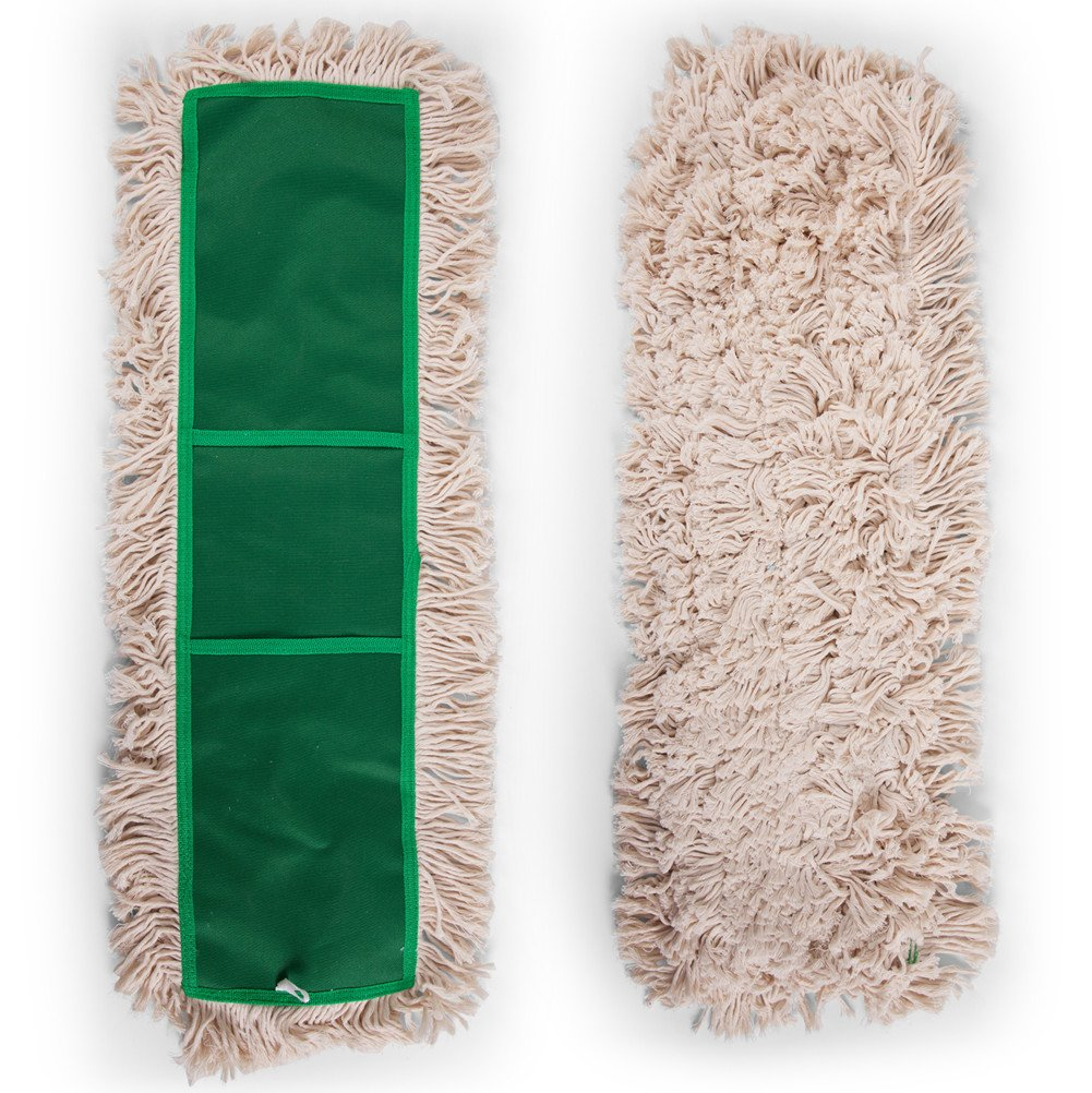 24'' Dust Mop Head, Replacement Cotton Mop Heads Washable Cleaning Floor Mop for Hardwood Floor Clean, Office, Garage Care, Laminate, Tile Flooring, Home & Commercial Use by Shallylu