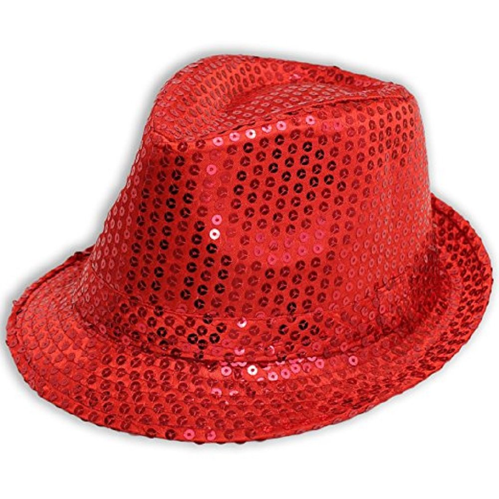 Wicked Fun Mens Ladies Trilby HAT Sequin Fedora HAT 1920'S Gangster Fancy Dress Dance Show Unisex Accessory