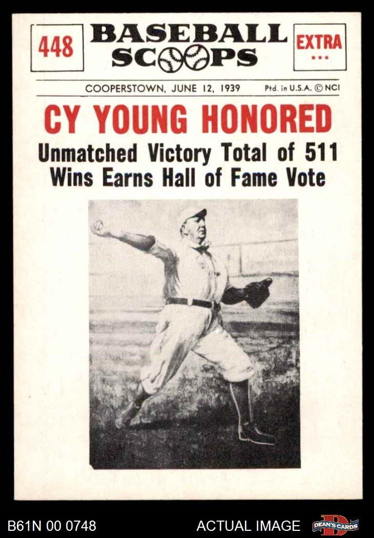 1961 Nu-Card Scoops # 448 Honored Cy Young Boston Red Sox (Baseball Card) Dean's Cards 6 - EX/MT Red Sox
