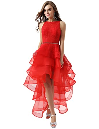 119452467411 YIRENWANSHA Fashion Lace 3 Layers Organza Prom Party Robes Asymmetrical  Evening Dress For Women 2018 Long