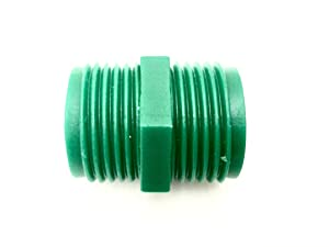 "Double Sided 3/4"" Male Garden Hose Adapter (GHTxGHT)"