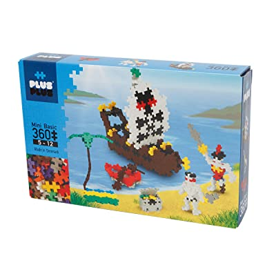 PLUS PLUS - Instructed Play Set - 360 Piece Pirates - Construction Building Stem Toy, Interlocking Mini Puzzle Blocks for Kids: Toys & Games