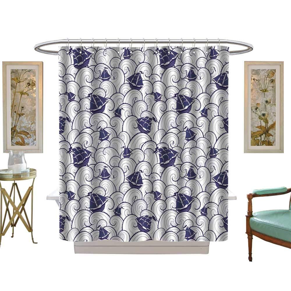 luvoluxhome シャワーカーテン 大理石の質感 高解像度パターン シャワーカーテン カスタマイズ可 W69