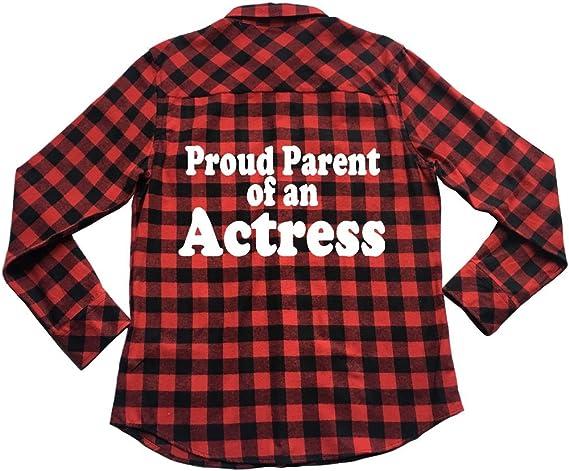 Proud Parent of an Actress Unisex Plaid Flannel Shirt