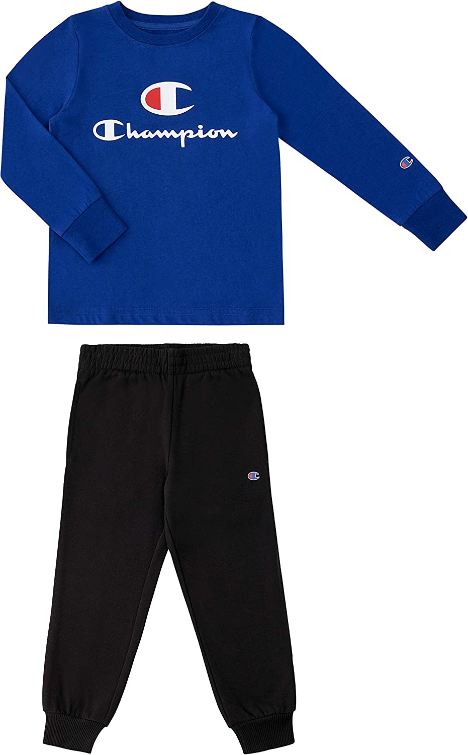 Champion Kids Boys Long Sleeve Hooded and Crew Neck Tee...