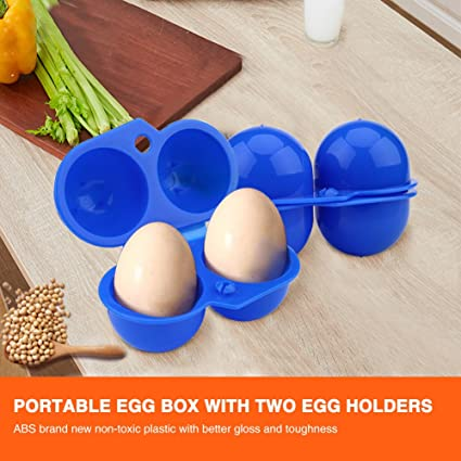 VGEBY1 Egg Box 2 Tray Portable Egg Storage Box Egg Container for Outdoor Camping Picnic BBQ Hiking School