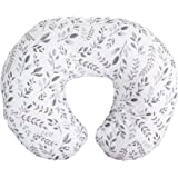 Boppy Nursing Pillow and Positioner—Original | Gray Taupe Watercolor Leaves | Breastfeeding, Bottle Feeding, Baby Support | w