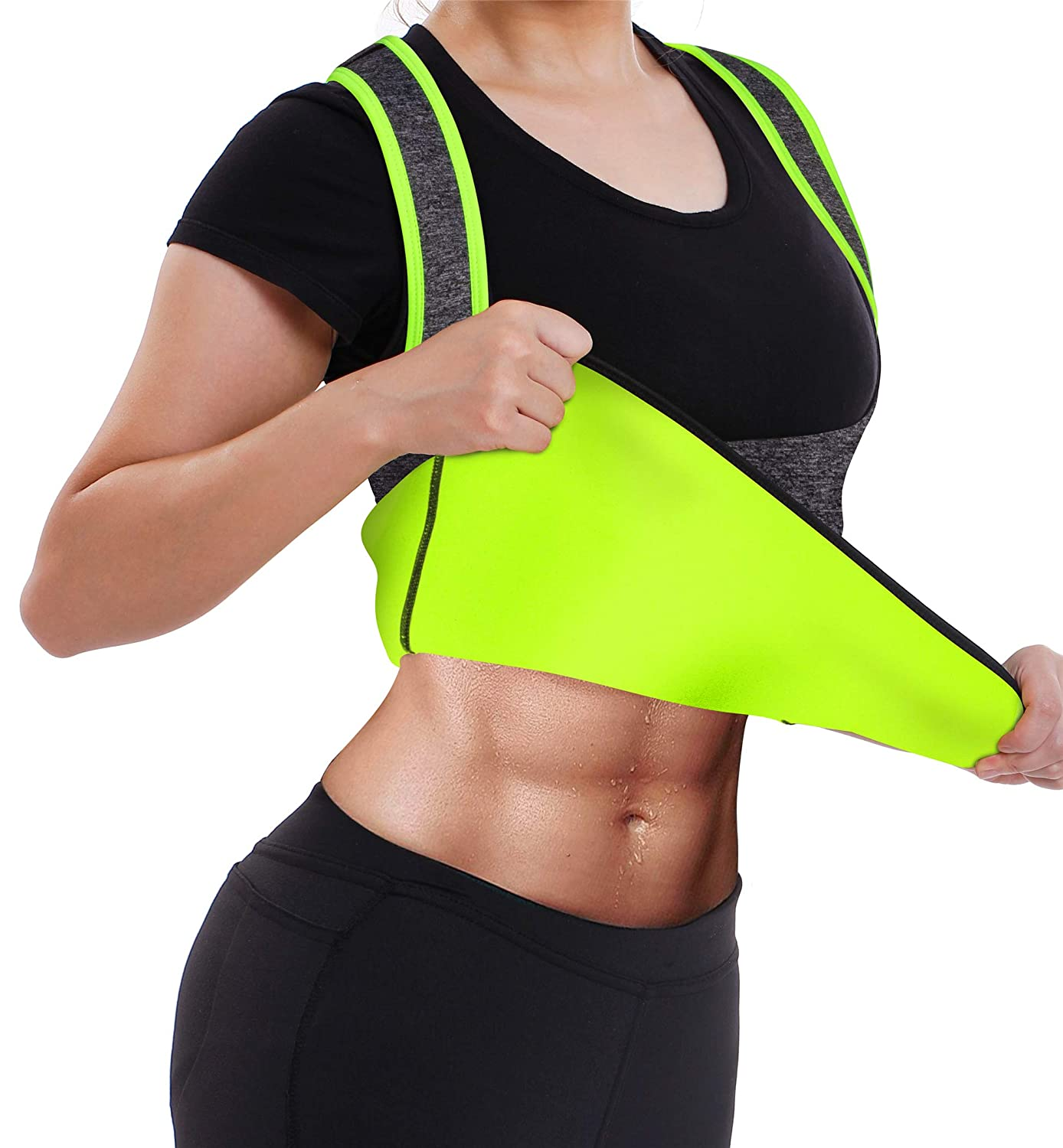 Women's No Zipper Hot Sweat Slimming Neoprene Shirt Vest Body Shapers for Fat Burner