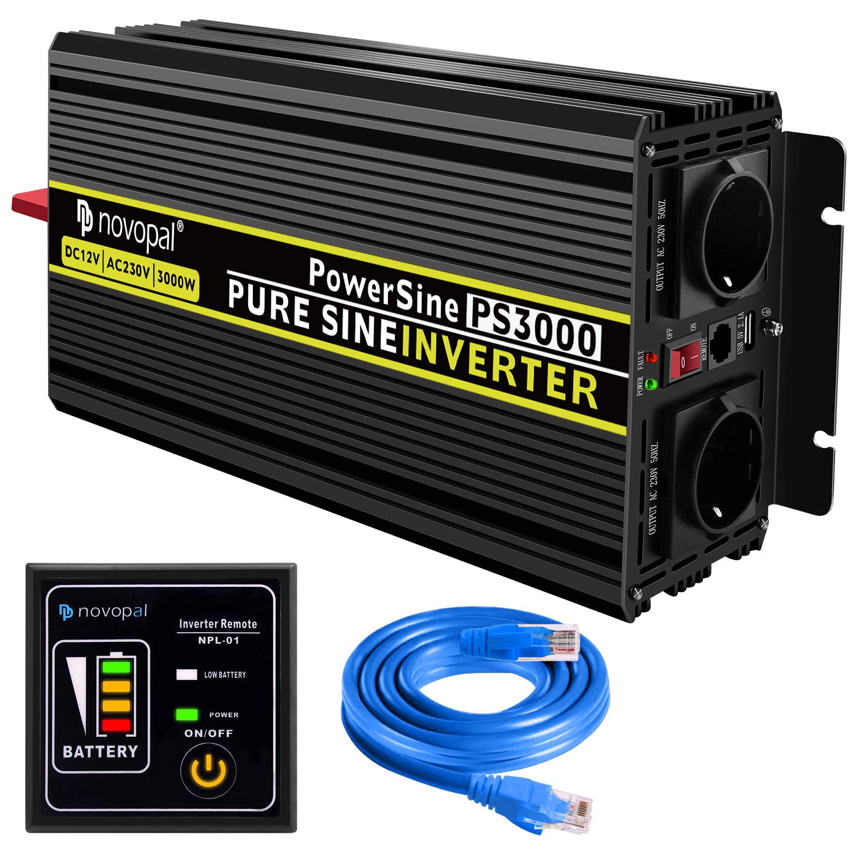 novopal Power Inverter Onda Sinusoidale Pura 3000W 6000W Trasformatore di Convertitore DC 12v in AC 220v 230v 240v Invertitore di Tensione