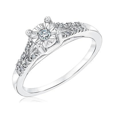 9578089113b Amazon.com  Diamond Promise Ring 1 10ctw  Jewelry